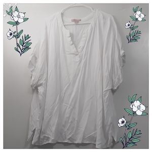 NWOT Chic Satin Combed Cotton Blouse